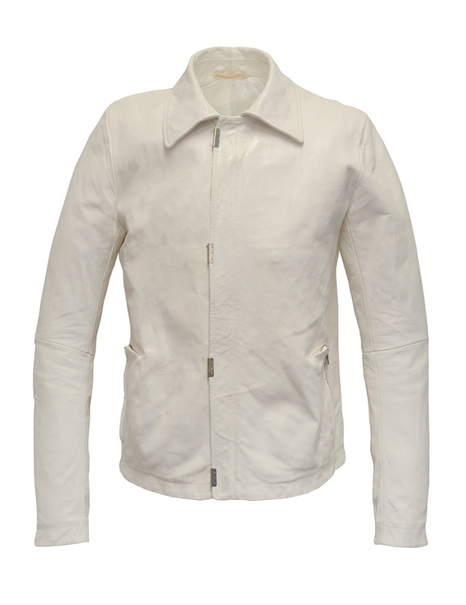 Carol Christian Poell white leather jacket LM/2498 ROOMS-PTC/01 mens jackets online shopping