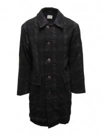 Sage de Cret cappotto grigio scuro a quadri 31-90-9377 53 CHARCOAL