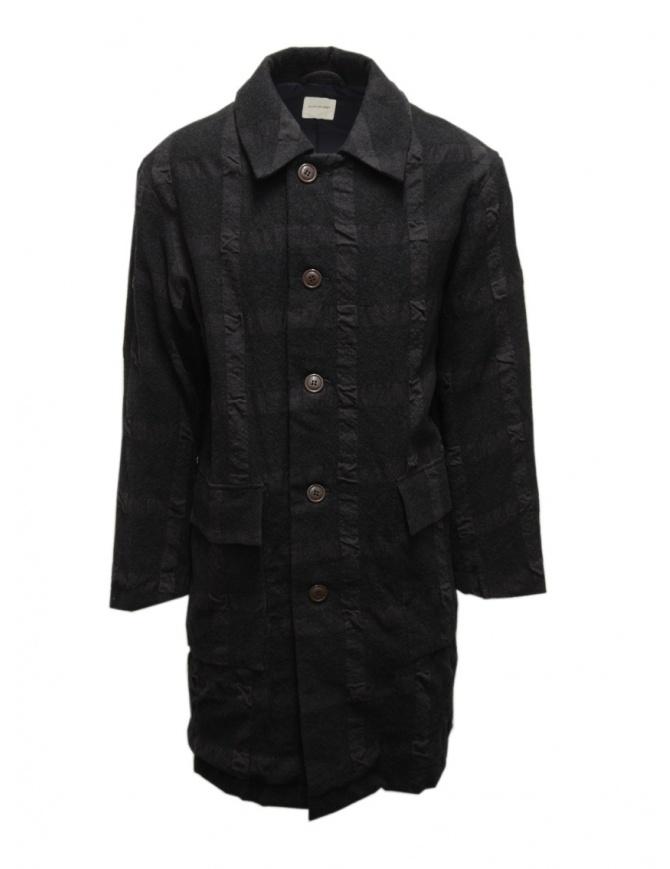Sage de Cret dark gray checked coat 31-90-9377 53 CHARCOAL mens coats online shopping