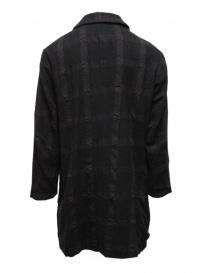 Sage de Cret cappotto grigio scuro a quadri acquista online