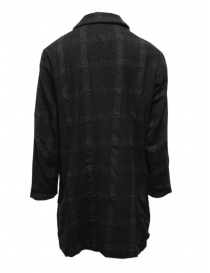 Sage de Cret dark gray checked coat