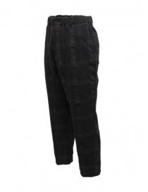 Sage de Cret pantalone a quadri grigio scuro
