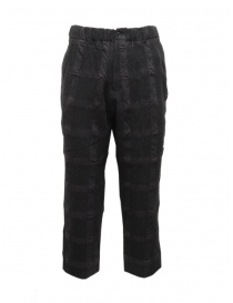 Mens trousers online: Sage de Cret dark gray checked trousers