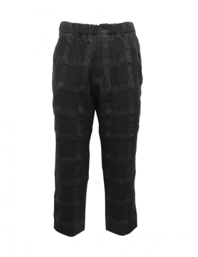 Sage de Cret dark gray checked trousers 31-90-8123 53 CHARCOAL mens trousers online shopping