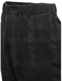 Sage de Cret dark gray checked trousers mens trousers buy online