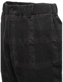 Sage de Cret pantalone a quadri grigio scuro pantaloni uomo acquista online