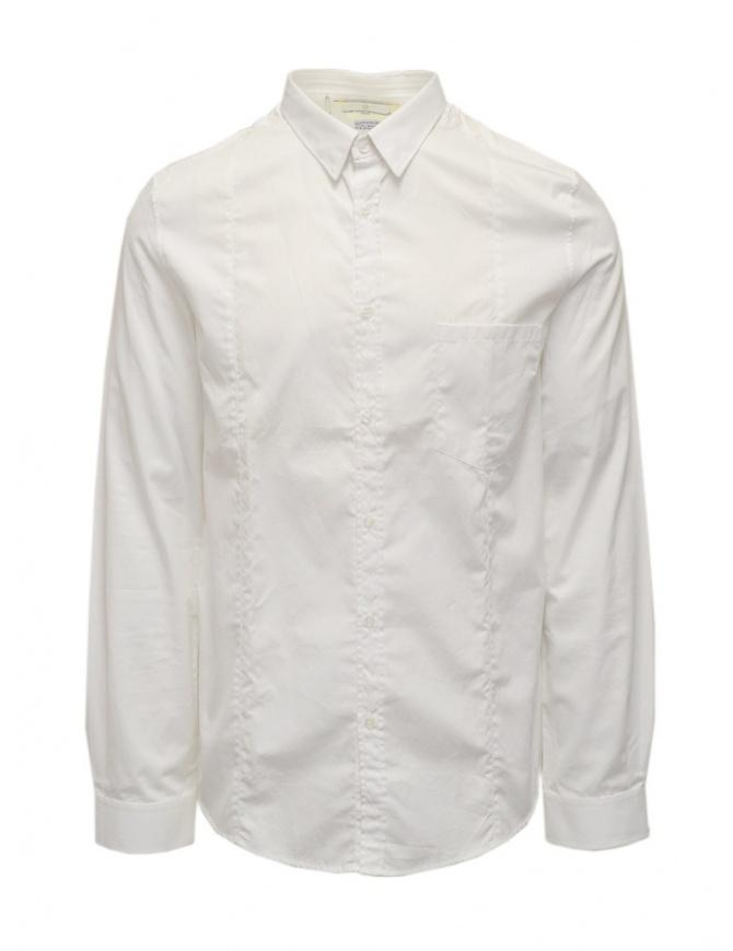 Golden Goose camicia bianca in cotone da uomo G21U522.B4 camicie uomo online shopping