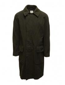 Mens coats online: Sage de Cret khaki green coat