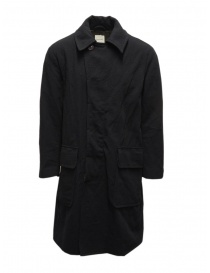 Mens coats online: Sage de Cret navy blue coat