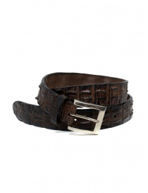 Belts online: Post&Co PR43CO belt in brown crocodile leather