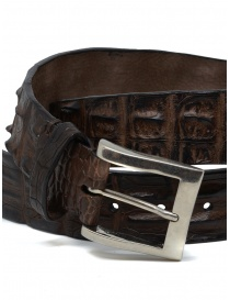 Post&Co PR43CO belt in brown crocodile leather