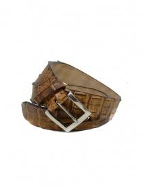 Post&Co PR43CO cintura in pelle di coccodrillo cognac online