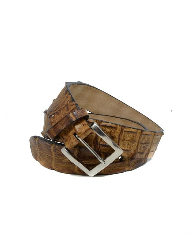 Post&Co PR43CO cognac crocodile leather belt PR43CO COGNAC belts online shopping