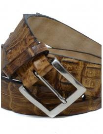 Post&Co PR43CO cintura in pelle di coccodrillo cognac