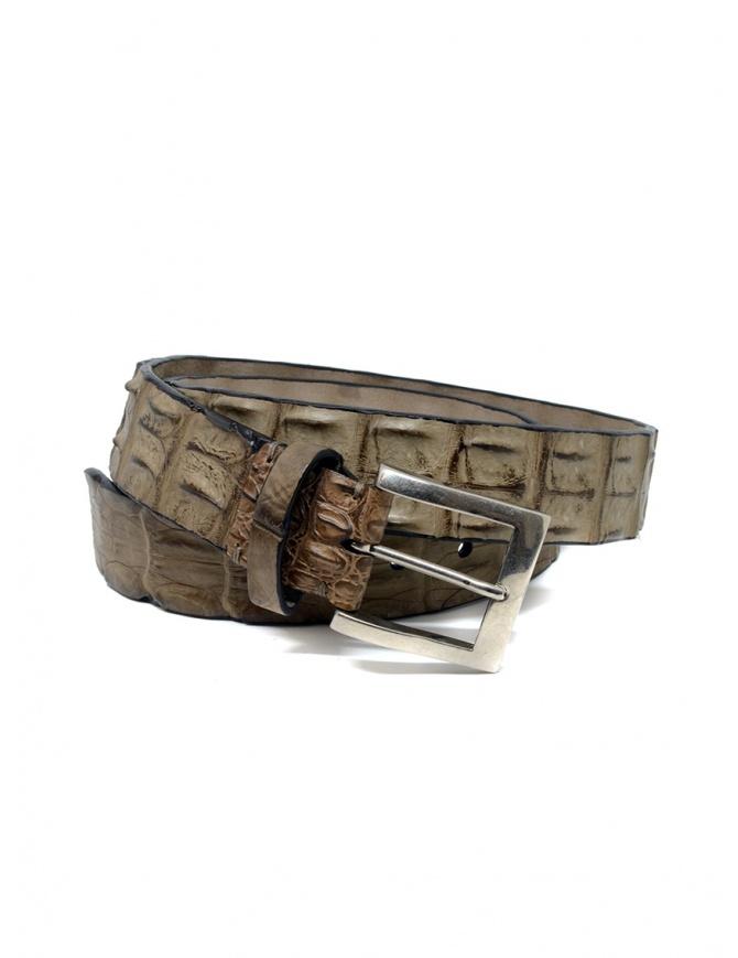Post&Co PR43CO beige crocodile leather belt PR43CO CORROSIONE belts online shopping
