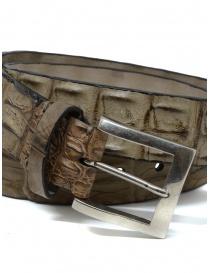 Post&Co PR43CO beige crocodile leather belt buy online
