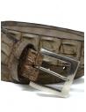 Post&Co PR43CO beige crocodile leather belt shop online belts