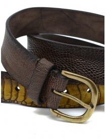 Post&Co TC317 belt in dark brown ostrich leather