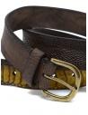 Post&Co TC317 belt in dark brown ostrich leather shop online belts