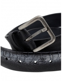 Post&Co TC317 black and gray ostrich leather belt