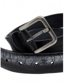 Post&Co TC317 cintura in pelle di struzzo nera e grigia