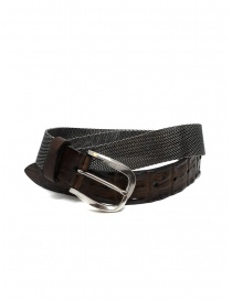 Belts online: Post&Co TC366 belt in metal and brown crocodile leather