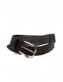 Post&Co TC366 cintura in metallo e pelle di coccodrillo marrone online