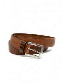 Belts online: Post&Co PR11 cognac-colored leather belt