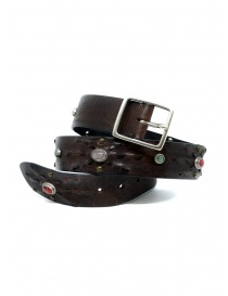 Belts online: Post&Co 7815 leather belt with embedded pearls