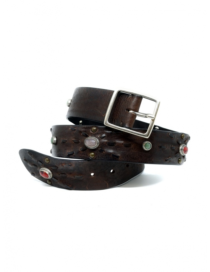 Post&Co 7815 cintura in pelle con perle incastonate 7815 TMORO cinture online shopping