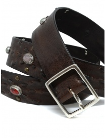 Post&Co 7815 leather belt with embedded pearls