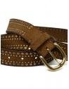 Post&Co 8122CR cognac suede belt with studs shop online belts