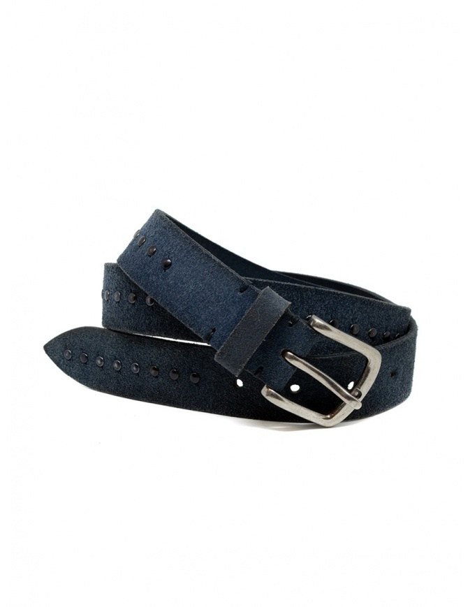 Post&Co 8022CR blue suede belt with studs 8022CR NAVY belts online shopping