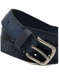 Post&Co 8022CR blue suede belt with studs