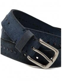 Post&Co 8022CR cintura scamosciata blu con borchie