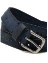 Post&Co 8022CR blue suede belt with studs shop online belts