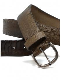 Post&Co TC316 cintura in pelle di struzzo marrone e beige