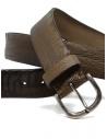 Post&Co TC316 cintura in pelle di struzzo marrone e beigeshop online cinture