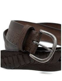 Post&Co TC316 belt in dark brown and brown ostrich leather