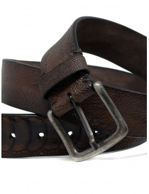Post&Co TC316 belt in brown ostrich leather