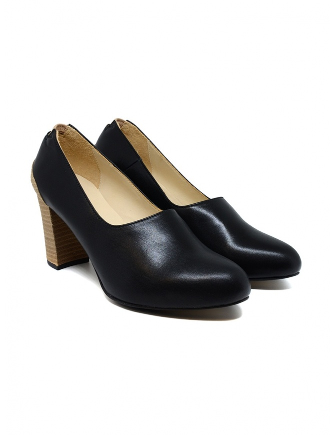 Petrosolaum black leather decolleté shoes 8190-PO03 BLK womens shoes online shopping