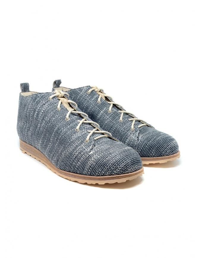 Scarpe Petrosolaum in tessuto bianco e nero 8185-PTR2 BLK calzature uomo online shopping