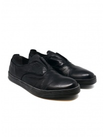 Mens shoes online: Shoto black kangaroo leather shoes