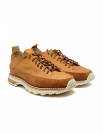 Mens shoes online: Feit Lugged Runner tan color shoes