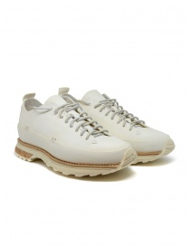 Mens shoes online: Feit Lugged Runner white shoes