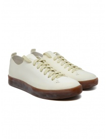 Mens shoes online: Feit Hand Sewn Low Latex ivory shoes