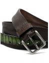 Post&Co cintura TC317 in pelle di struzzo marrone e verdeshop online cinture