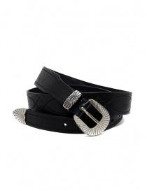 Post&Co TEX005 cintura in pelle nera e metallo online