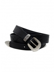 Belts online: Post&Co TEX005 belt in black leather and metal