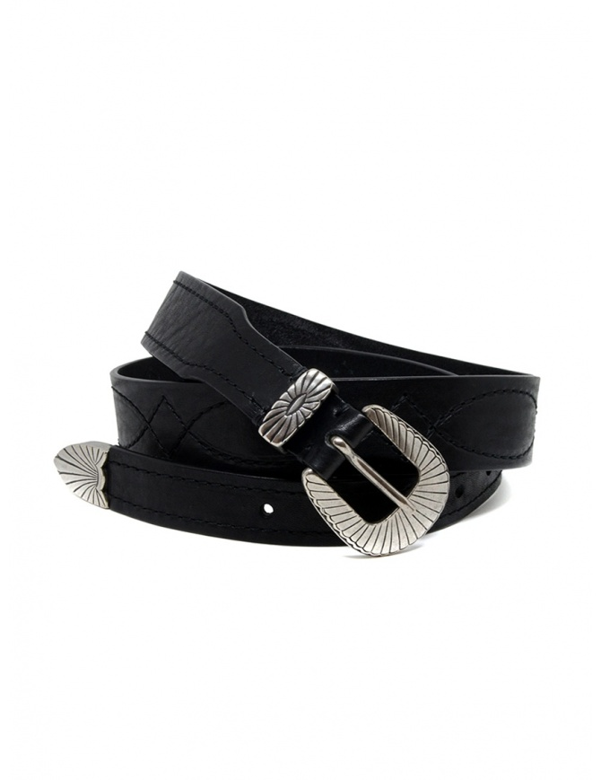 Post&Co TEX005 belt in black leather and metal TEX005 NERO belts online shopping